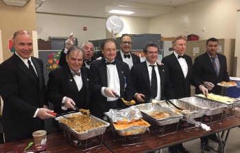 A Thanksgiving Dinner for Veterans at the VA Hospital